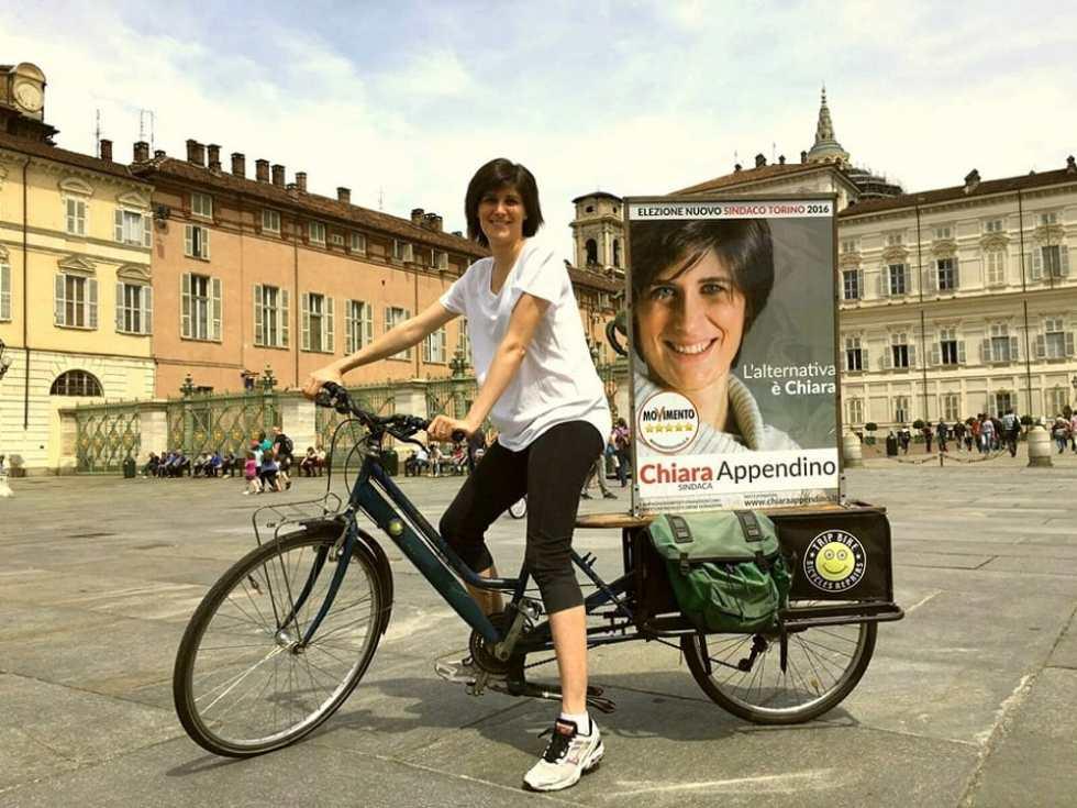 Chiara Appendino in una apparizione elettorale