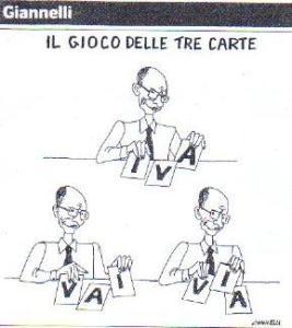 Una vignetta di Gianelli ospitata da Il Corriere della Sera